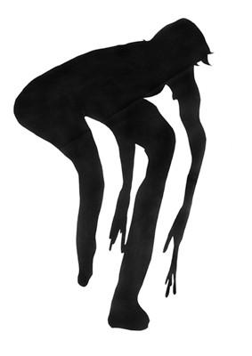 Martina Lückener  Floh 200x124 cm Papierschnitt 2002