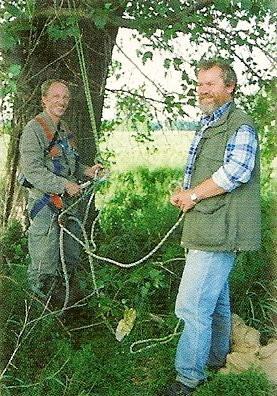 Adrian Gundel und Joachim Allert Mitte der 1990er Jahre