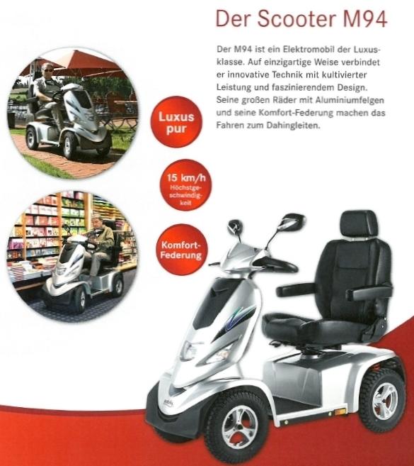 Merkmale und Sicherheitsausstattung des Mobilis M94 Elektromobils für Senioren und Behinderte