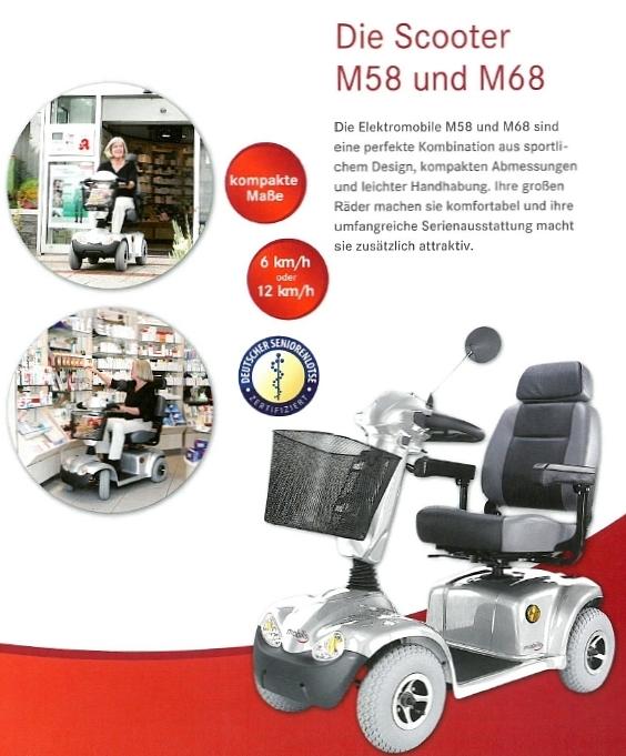 Merkmale und Sicherheitsausstattung des Mobilis M58 und M68 Elektromobils für Senioren und Behinderte