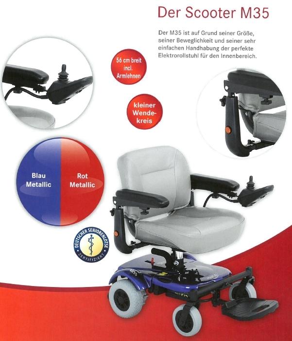 Merkmale und Sicherheitsausstattung des Mobilis M35 Elektromobils für Senioren und Behinderte