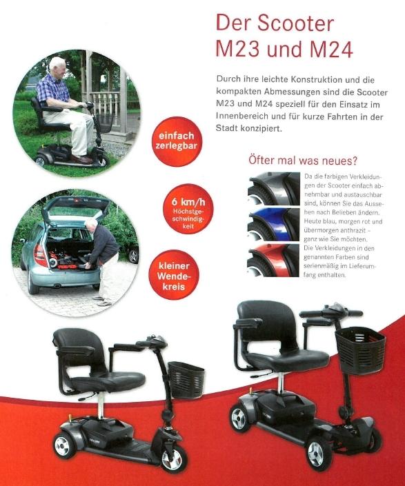Merkmale und Sicherheitsausstattung des Mobilis M23 und M24 Elektromobils für Senioren und Behinderte