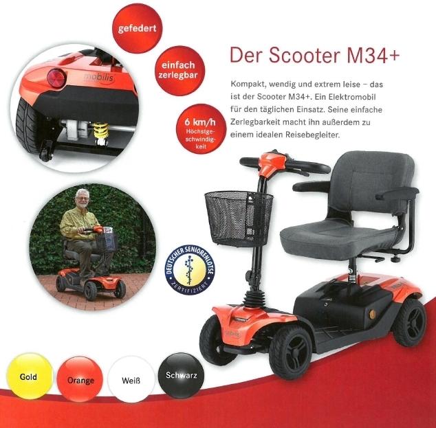 Merkmale und Sicherheitsausstattung des Mobilis M34+ Elektromobils für Senioren und Behinderte
