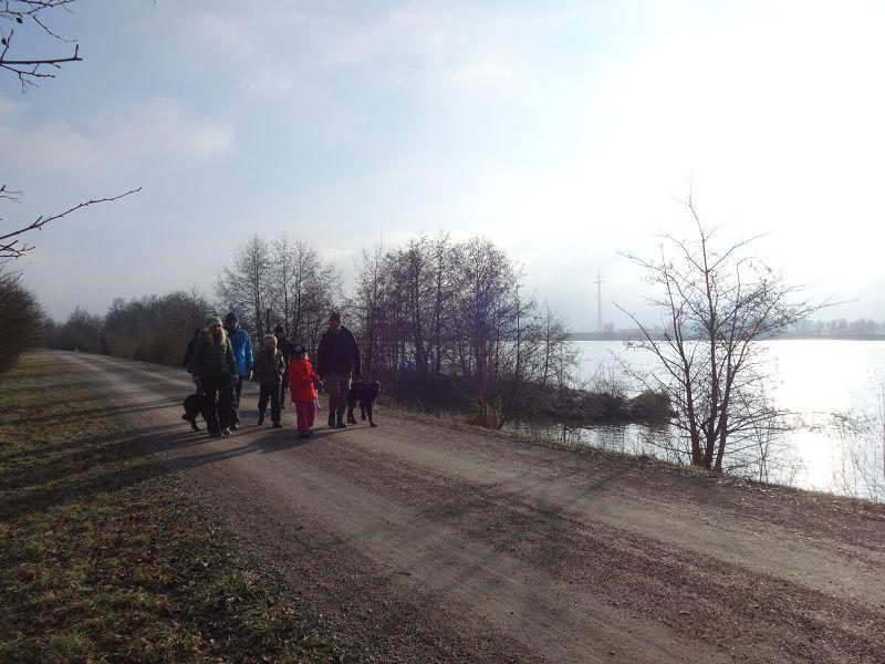 an der Donau bei Straubing! Jan 2019