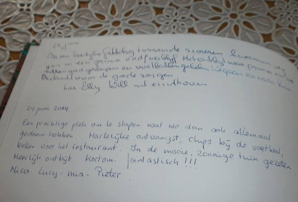 Een kijkje in ons gastenboek
