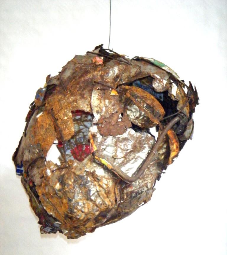Sans titre - Feuilles d'aluminium 70 x 50 x 50 - Détail - 2008