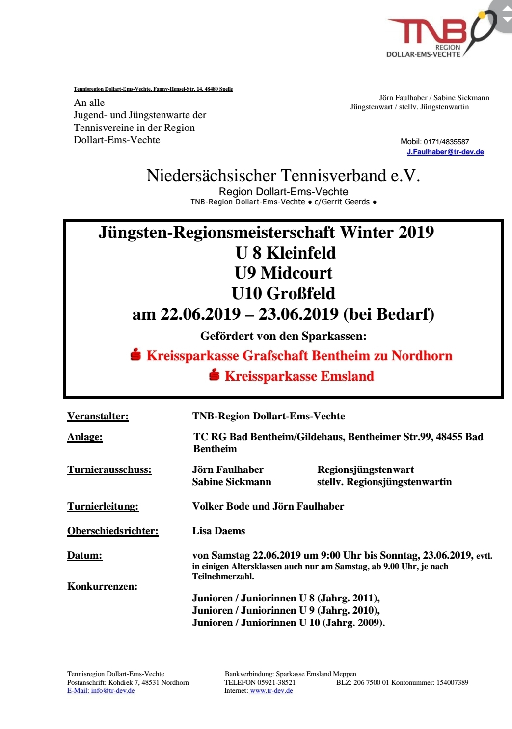 Jüngsten-Regionsmeisterschaften Sommer 2019 U8-U10 Region Dollart-Ems-Vechte