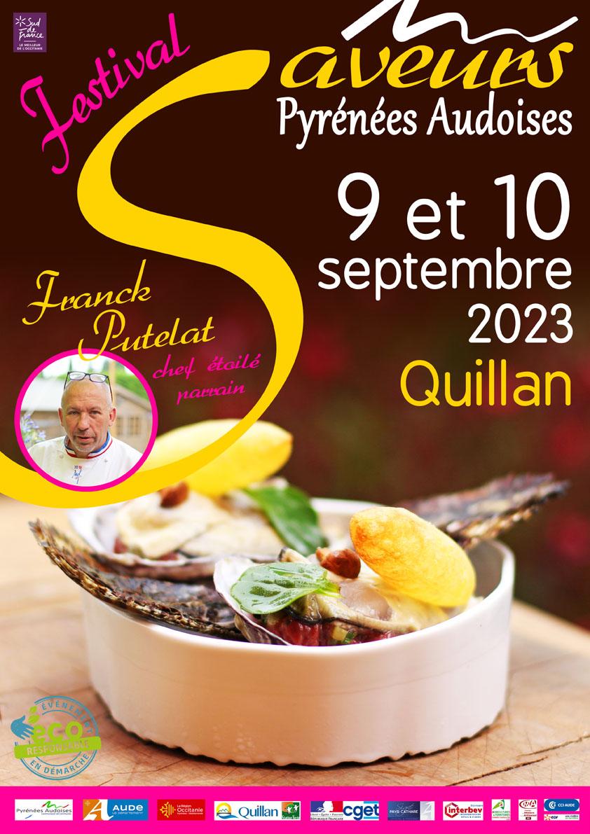 Affiche Festival des Saveurs Pyrénées Audoises 2018