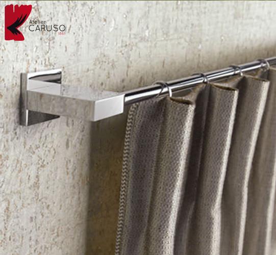 Bastoni e binari per tende atelier tessuti arredamento for Tende lino moderne