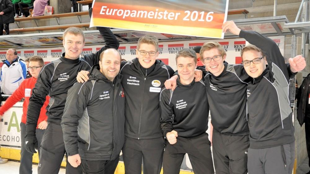 Gold für die U19 mit Matthias Meier (C) DESV