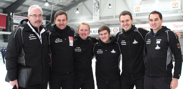 Team GER: Trainer Stelzig, Christoph Öttl, Andreas Greil, Günther Krennleitner, Matthias Peischer u. Florian Brundobler