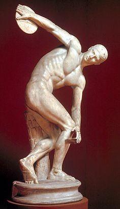 Le Discobole de Myron, sculpteur athénien du Vème siècle avant JC.