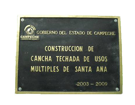 placa vaciada en bronce