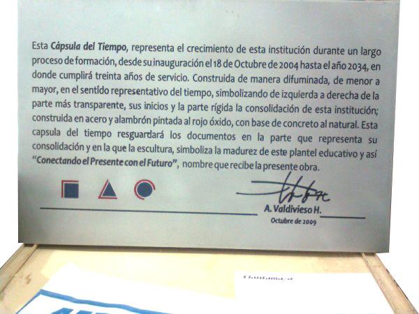 Placa para el monumento del 450 aniversario de Campeche