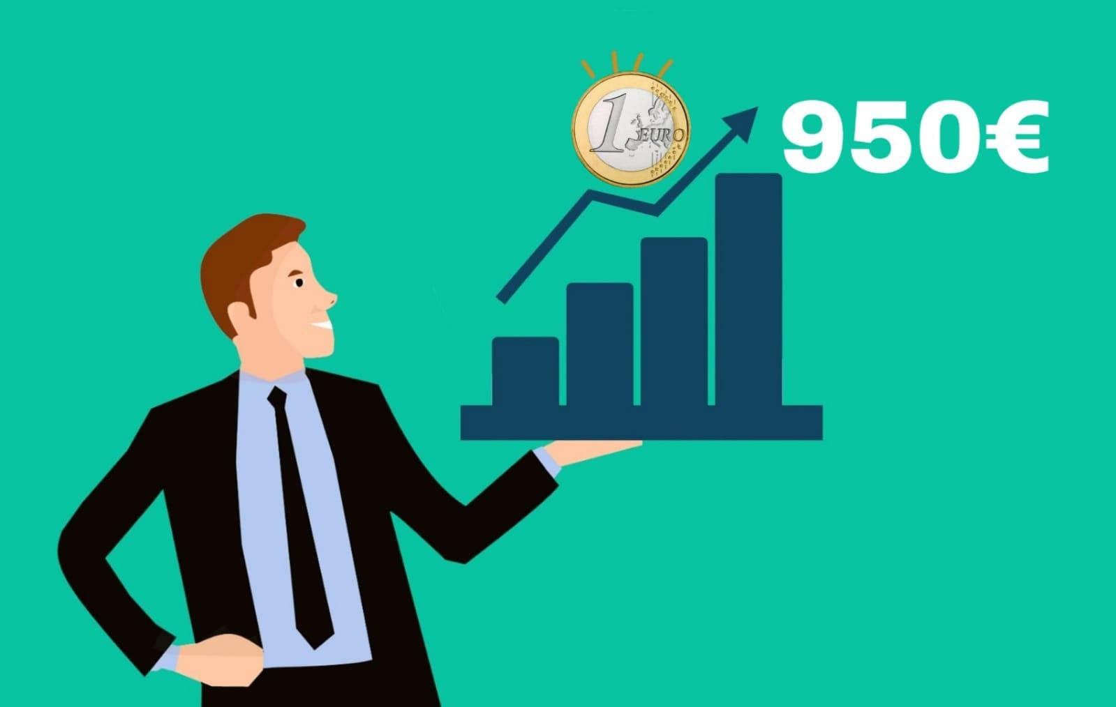 Resultado de imagen de Se fija el salario mínimo interprofesional (SMI) en 950€/mes para 2020