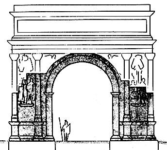 Glanum - Les Antiques : Restitution de l'arc de triomphe