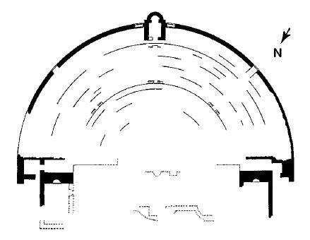 Guelma (Calama) : Plan du théâtre avant reconstruction