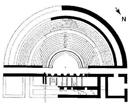 Kasserine (Cillium) : Plan du théâtre