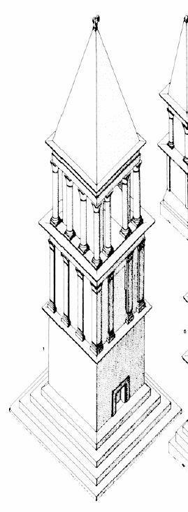 Kasserine (Cillium) : Restitution du mausolée des Flavii