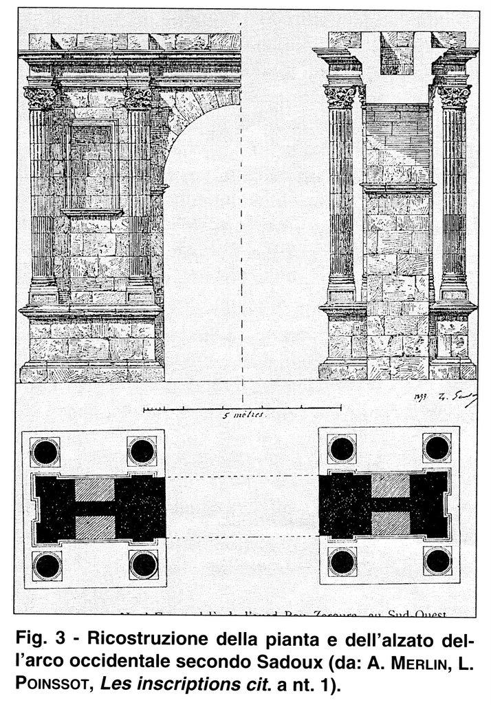 Henchir Douamis - Uchi Maius : Restitution de la moitié de la Porte occidentale