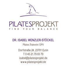 IMPRESSUM  Herausgeber dieser Website:  DR. ISABEL WENZLER-STÖCKEL Atelier Koppelholt Dorfstraße 24, 23701 Eutin/Fissau T 0 45 21.79 83 79 isabel@pilatesprojekt.de www.pilatesprojekt.de  St.Nr. 26/186