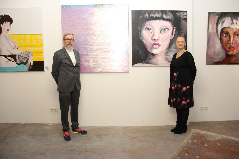 Ausstellung in der Mensa mit Heinz Loeher