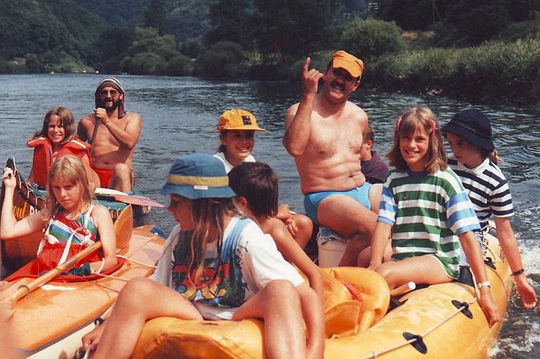 Zweite Lahn Tour 1989, diesmal mit besserem Wetter.