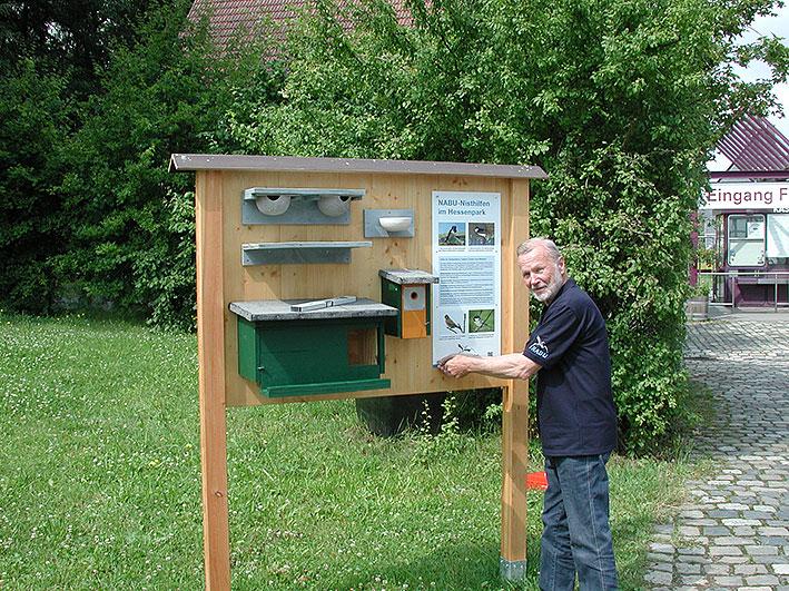 NABU Info Tafel am Eingang des Hessenparks.