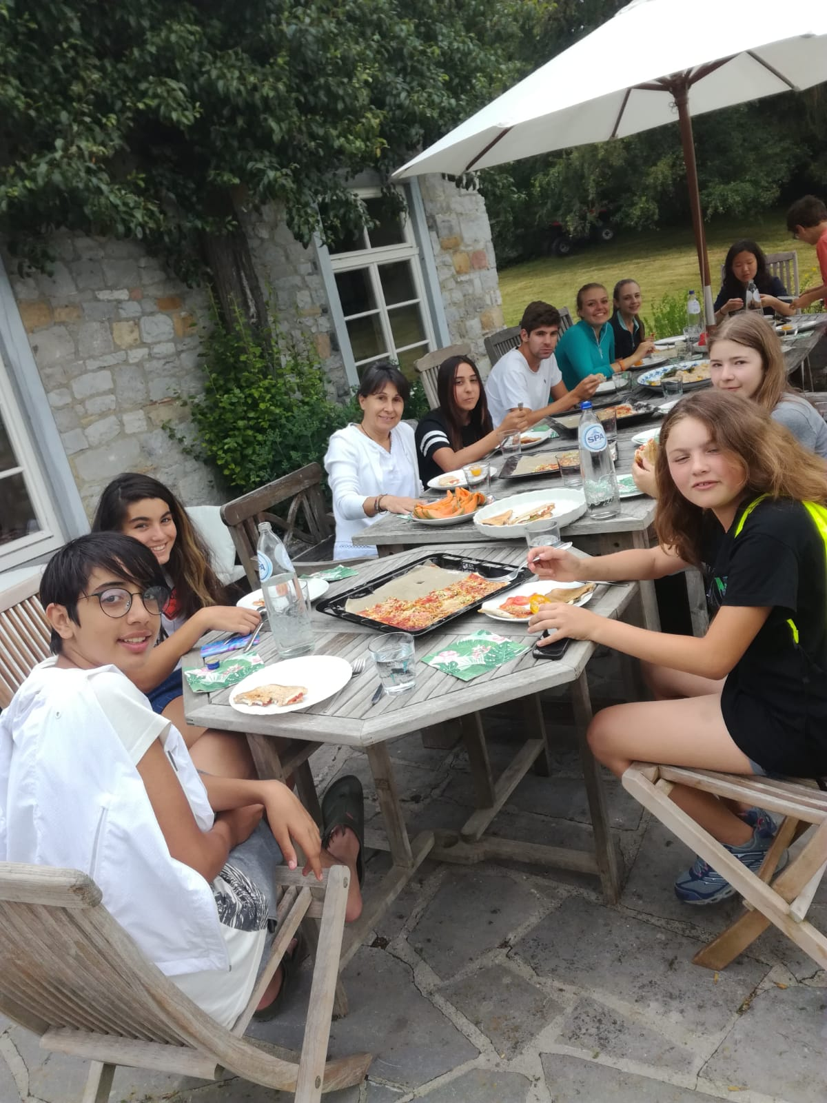 Dinner on the terrace at La Rochette