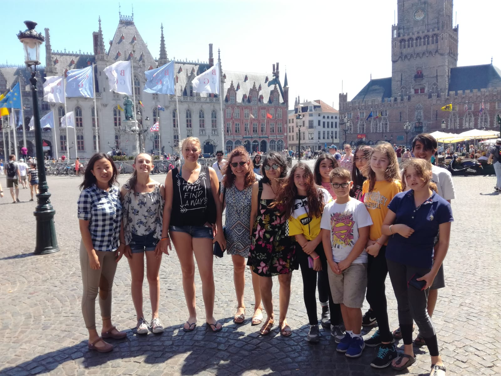 Grande Place Bruges with Team-M from Riding Center Izmir in Turkey
