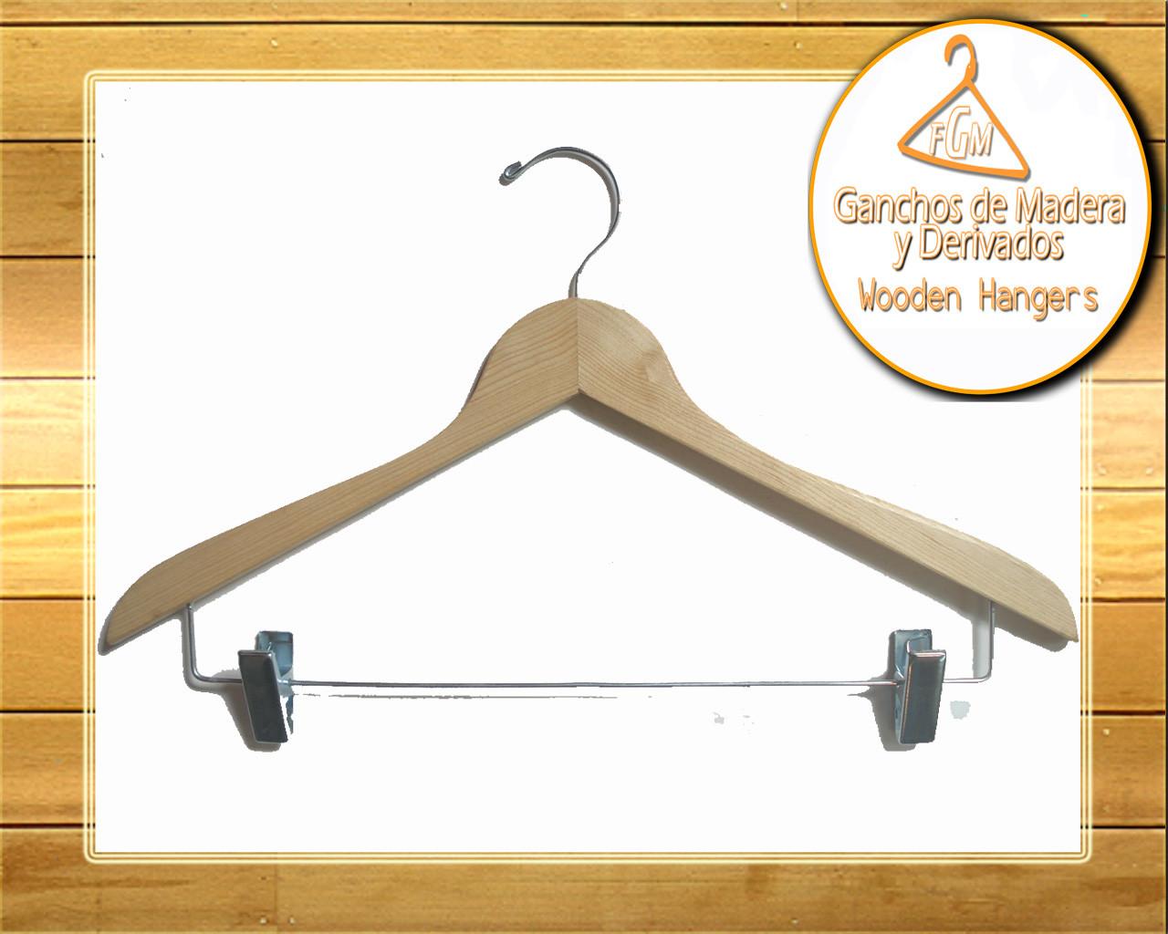 Ganchos de madera para ropa y derivados fabrica de for Ganchos de aluminio para ropa
