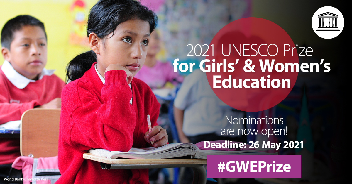 2021 UNESCO Prize for Girls' and Women's Education
