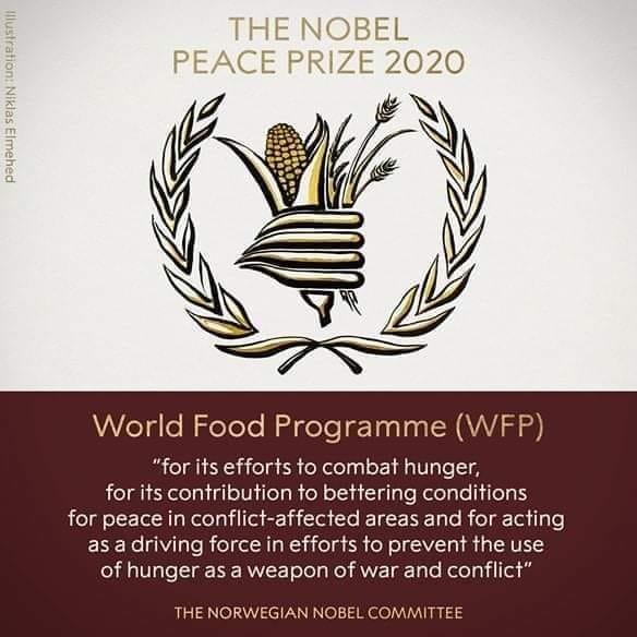 World Food Programme WFP Wins Nobel Peace Prize 2020