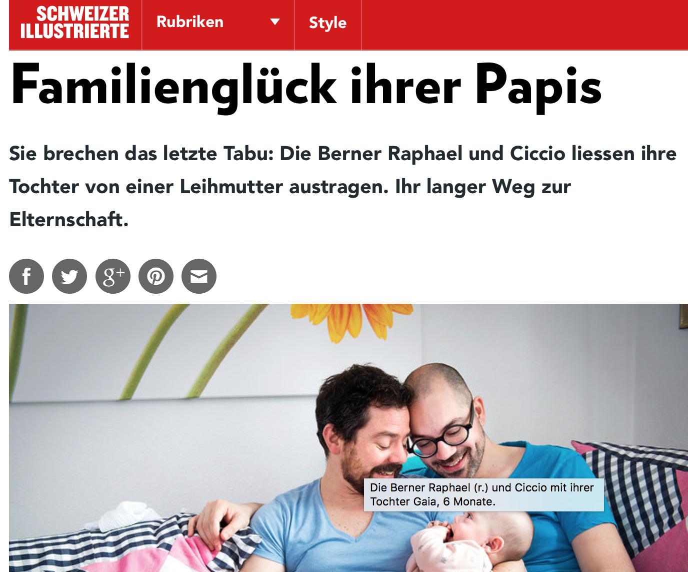 Baby Gaia krönt das Familienglück ihrer Papis