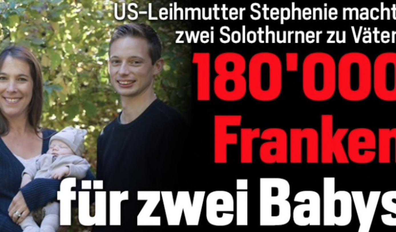 US-Leihmutter Stephenie machte Solothurn zu Vätern von Baby