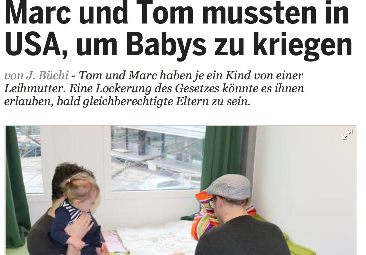 Marc und Tom mussten in USA, um Babys zu kriegen