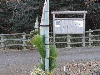 森の入口に立派な門松ができました!