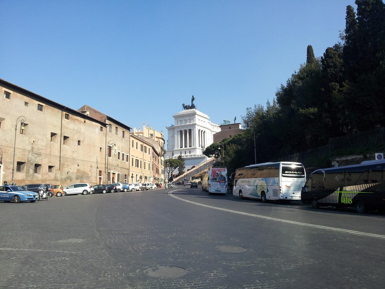 Blick Richtung Vittoriano