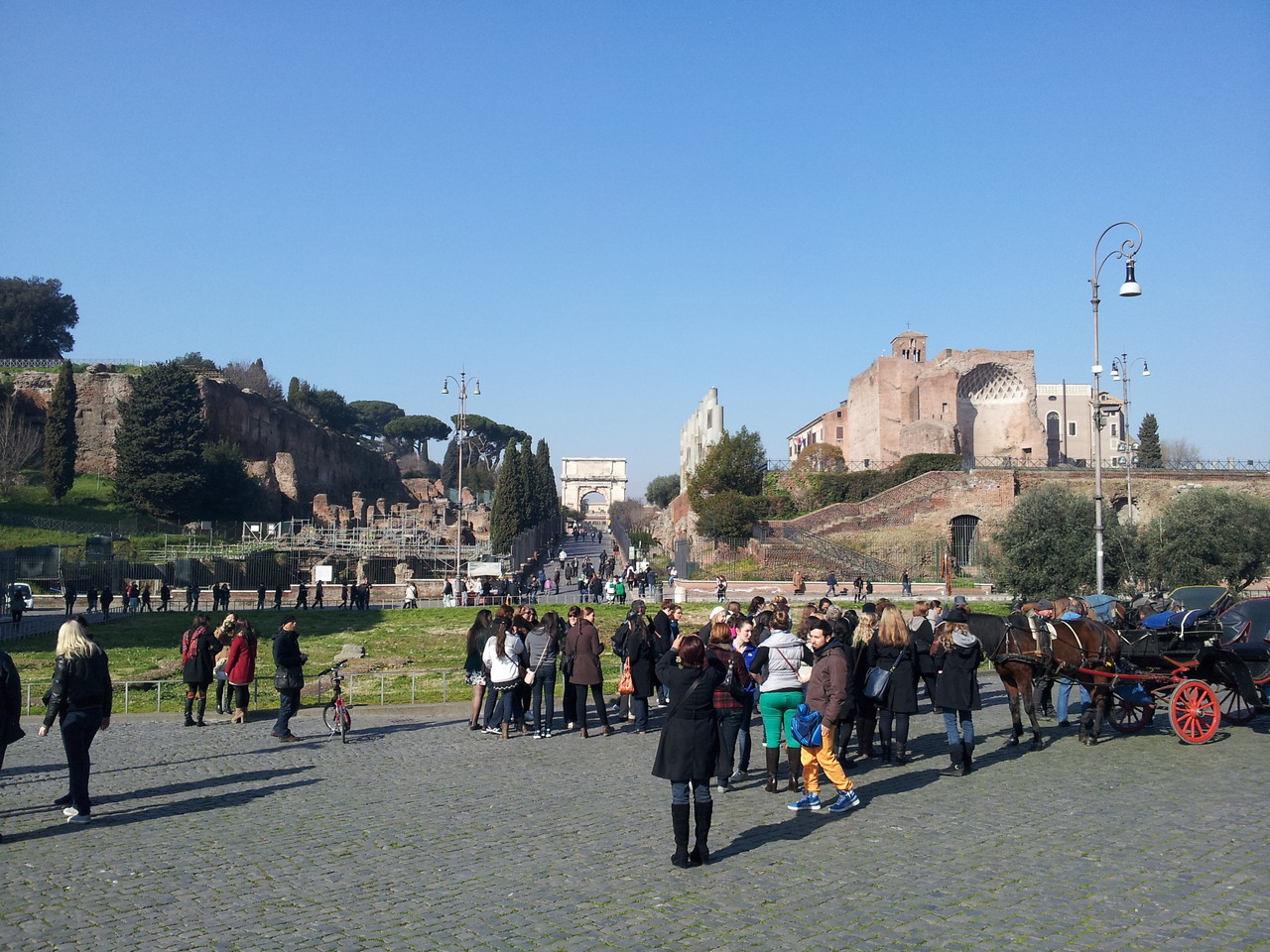 Blick Richtung Forum Romanum