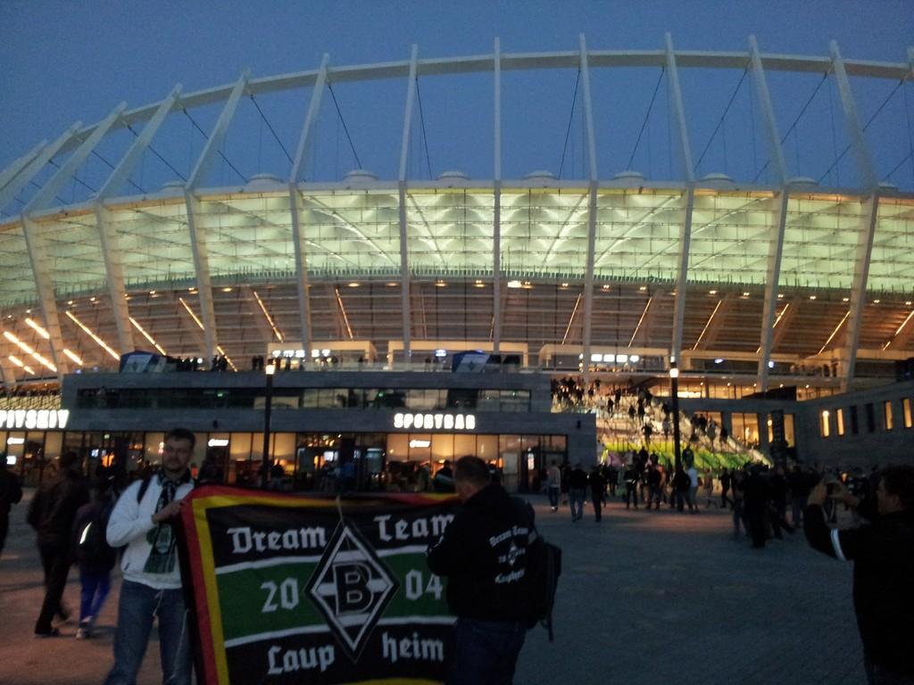 Ankunft am Stadion (ca.19:45 Uhr)