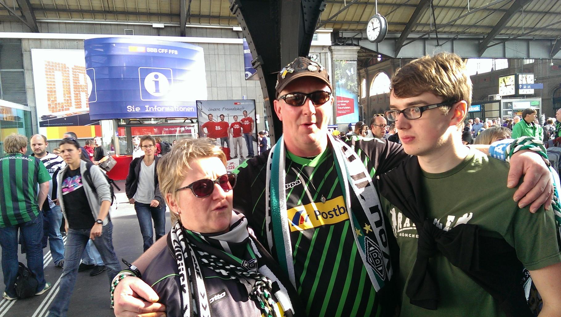 Gerda und Thomas aus M'Gladbach mit Torgen aus Wilhelmshaven