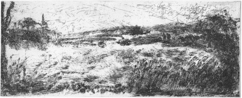 Niedziella, Waltraud, Havelland, Radierung-Reservage, 2013, 10-10, 12,2x30,0 cm / 60 Euro