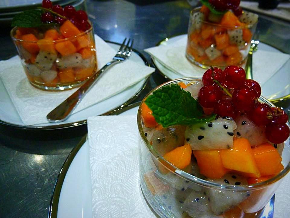Verrine papaye & pitahaya