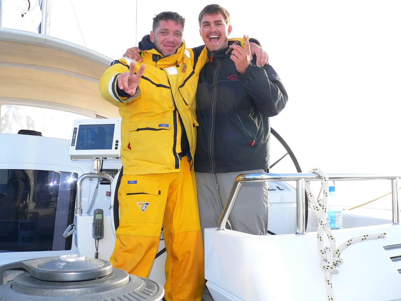 Chef Tristan Pontoizeau during Atlantic crossing onboard S/Y Mari-Cha3