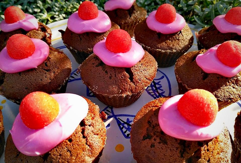 Muffins chocolat-tagada