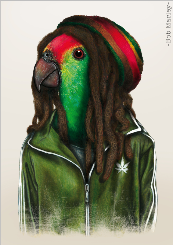 """Bob Marley""   Availables on:  www.manymaltshirt.com"