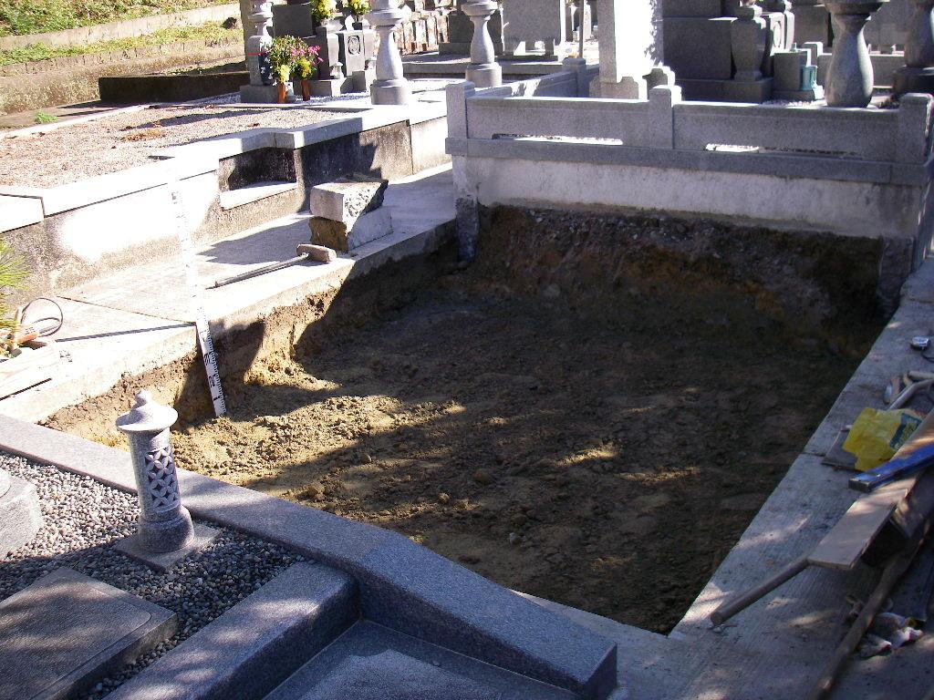 基礎工事開始 掘削