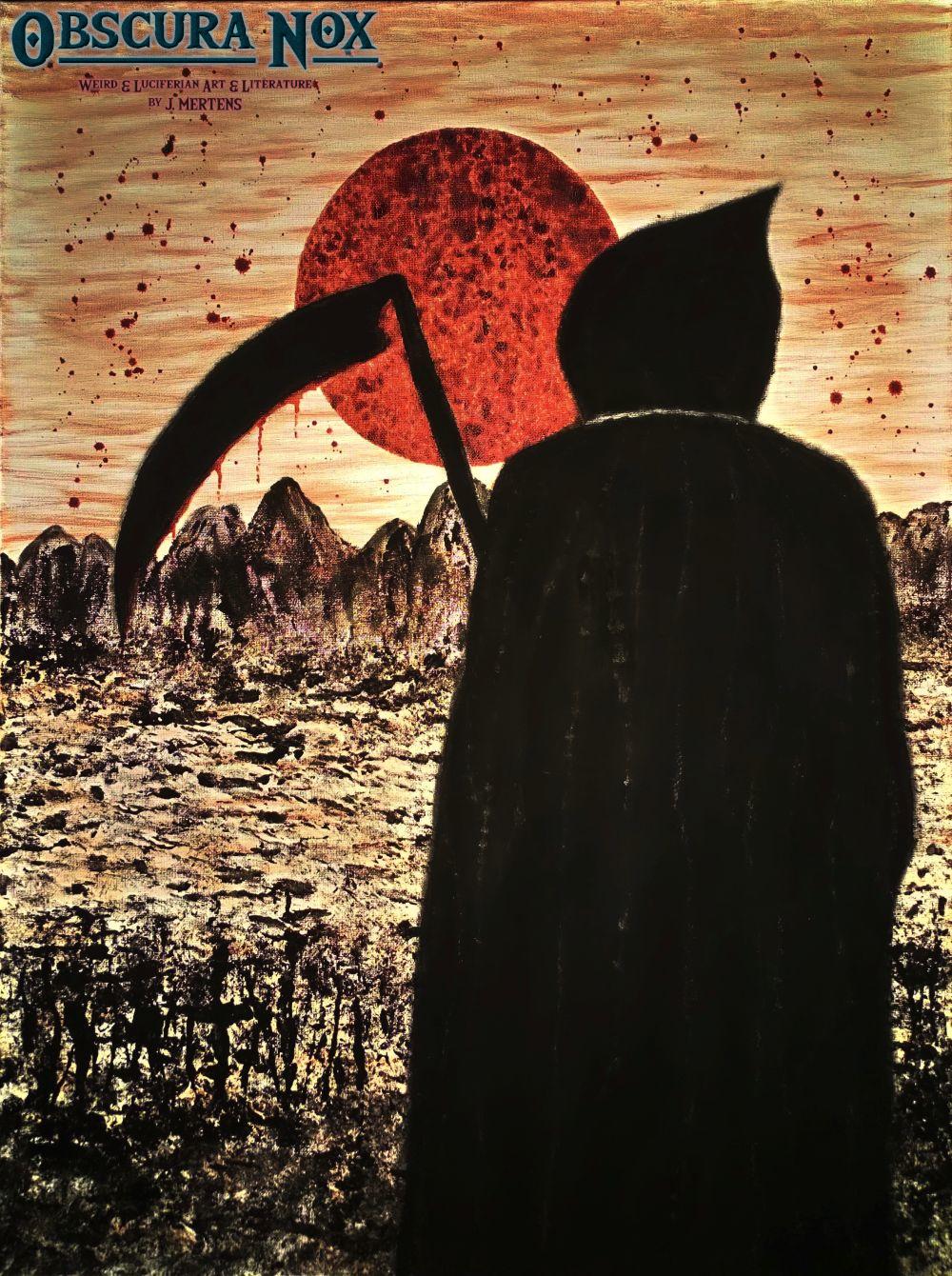 Die Melancholie des Schnitters unter dem Blutmond