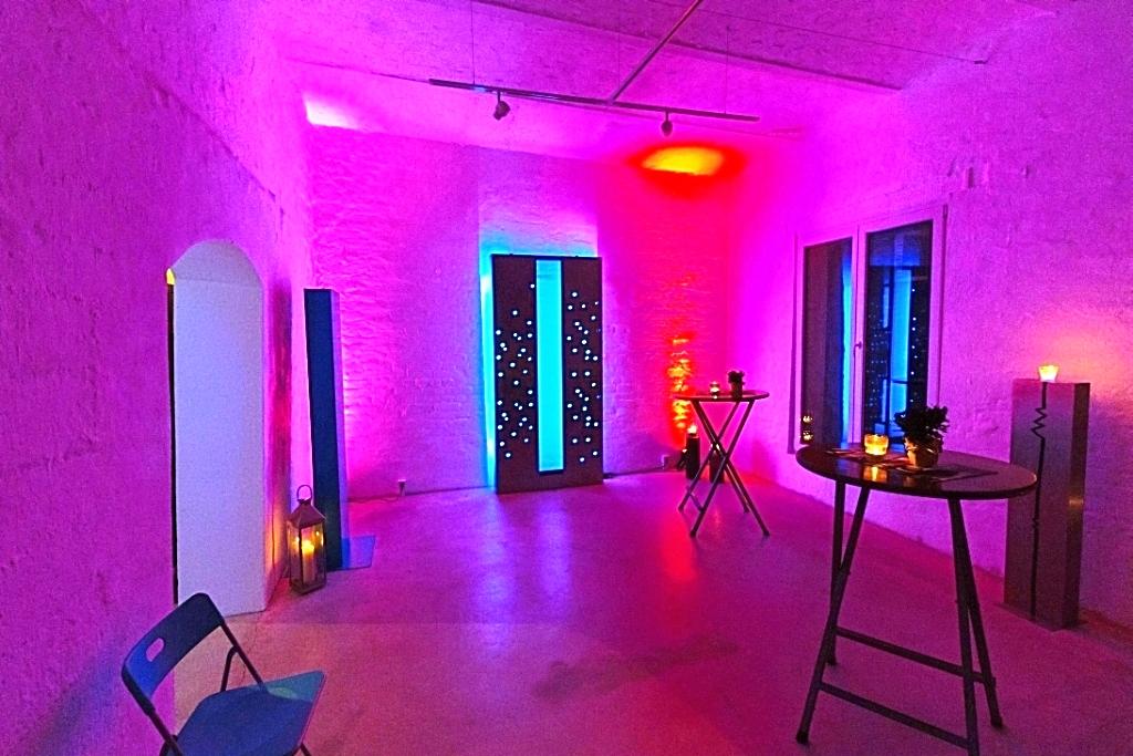 Foyer in Festbeleuchtung