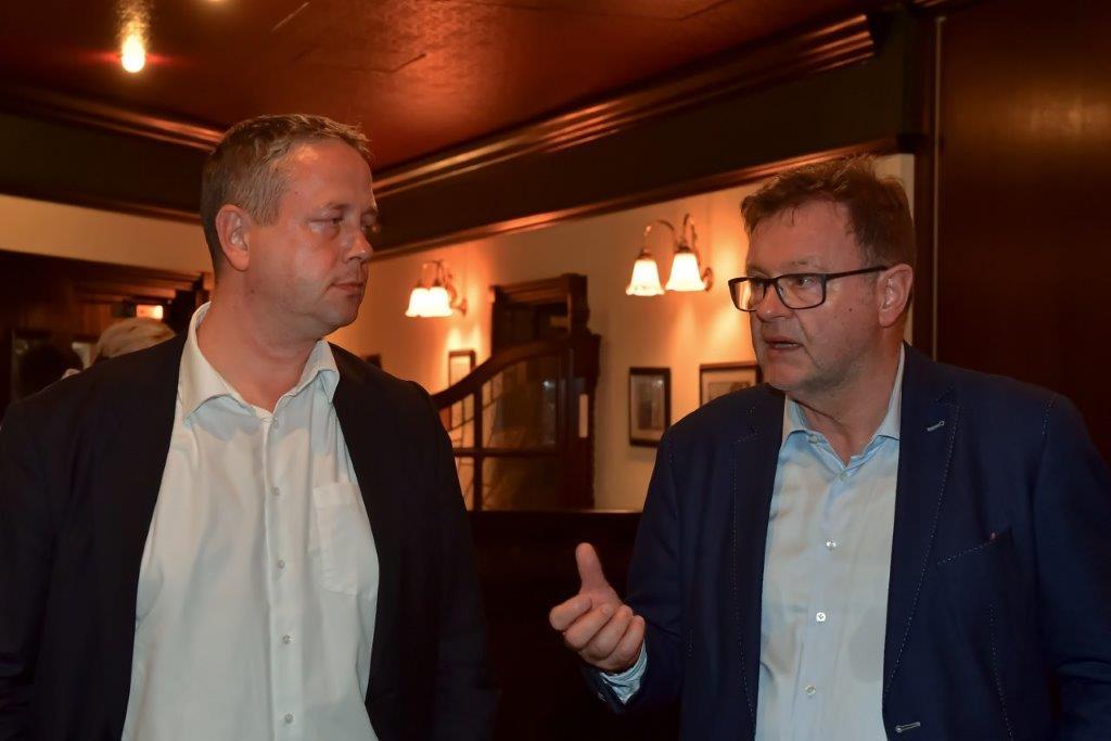 Frank Heuer und Michael Rabich von der Sparkasse Jena zum Thema City Card